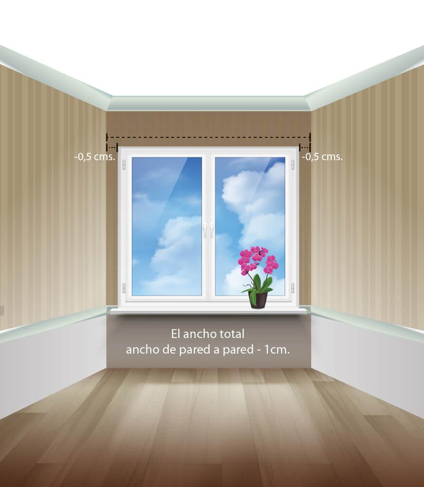 Cómo medir estores entre paredes