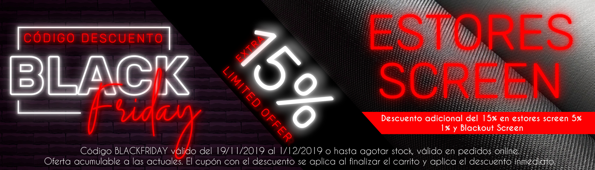 Promocion de estores black friday